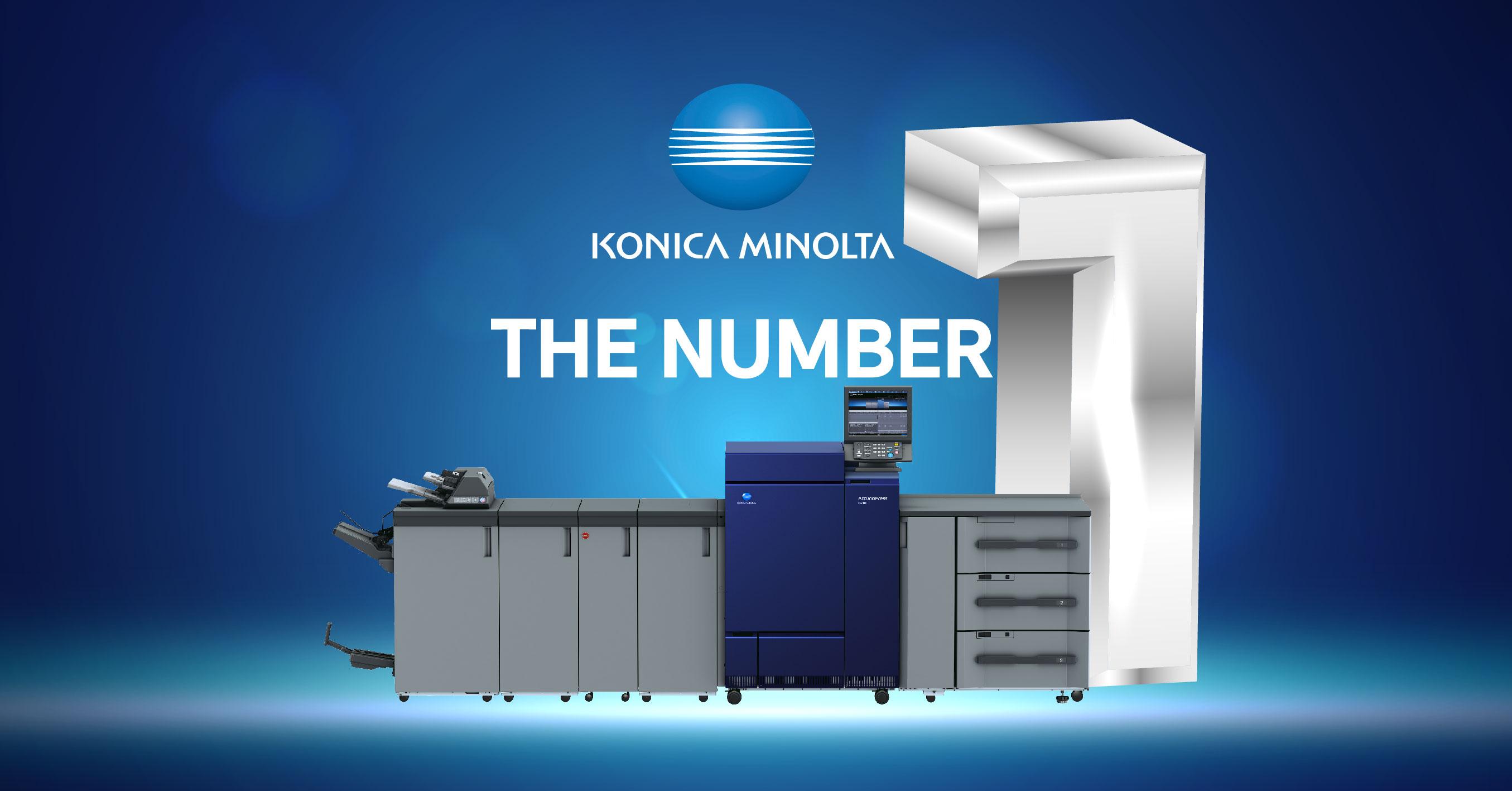 Konica Minolta เพิ่มความเชื่อมั่นให้กับผู้ประกอบการพิมพ์ ด้วยยอดขายอันดับ 1