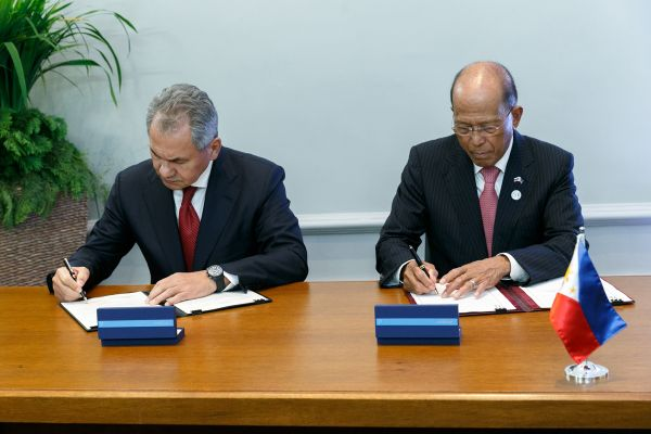 Philippines and Russia signed two defense agreements