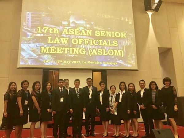 The 17th ASEAN Senior Law Officials Meeting: ASLOM