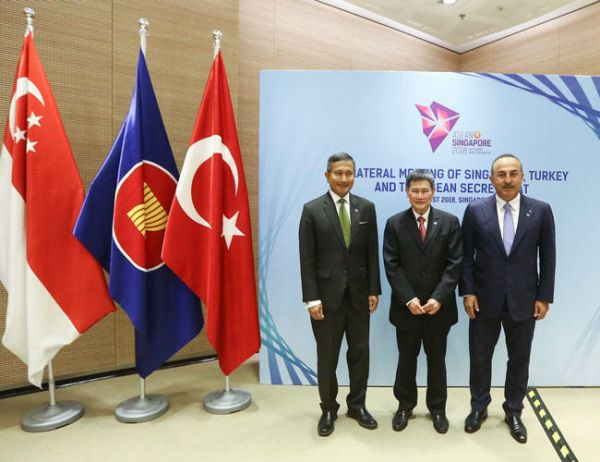 First Turkey-ASEAN trilateral meeting held in -Singapore