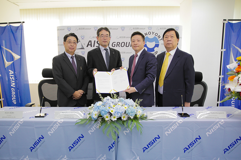 Aisin Asia (Thailand) Co., Ltd. and Manoyontchai Co., Ltd. Enter into a Capital and Business
