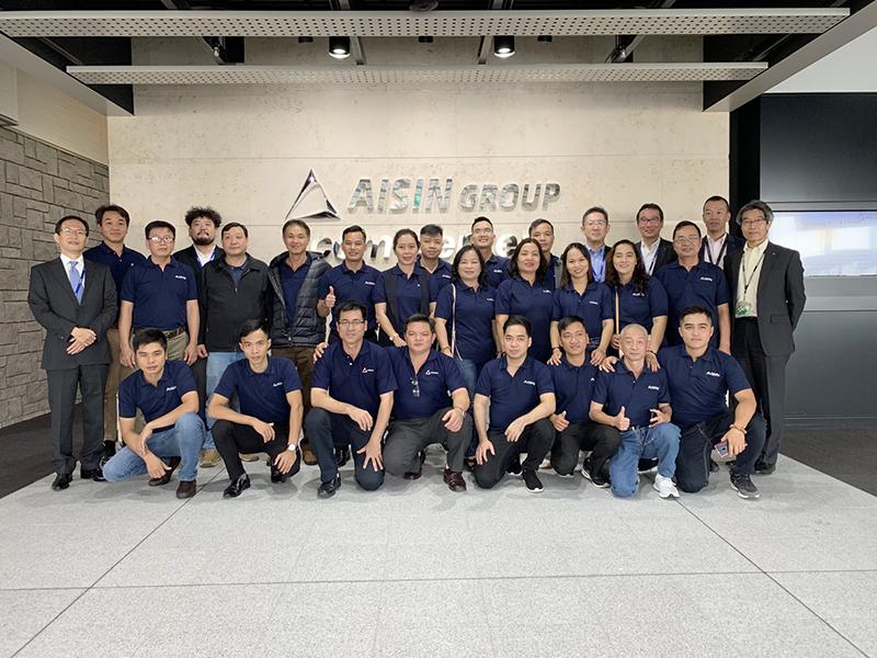 พาลูกค้าเยี่ยมชมโรงงาน Aisin Seiki Co., Ltd. สาขา Ogawa วันที่ 12 พฤศจิกายน 2562
