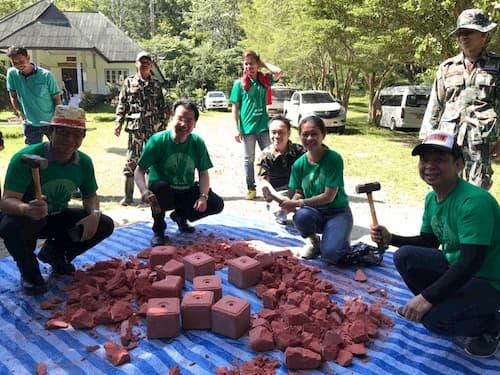 สร้างฝายชะลอน้ำและโป่งเทียมเพื่อสัตว์ป่า ณ สำนักงานเขตห้ามล่าสัตว์ป่า แก่งคอย
