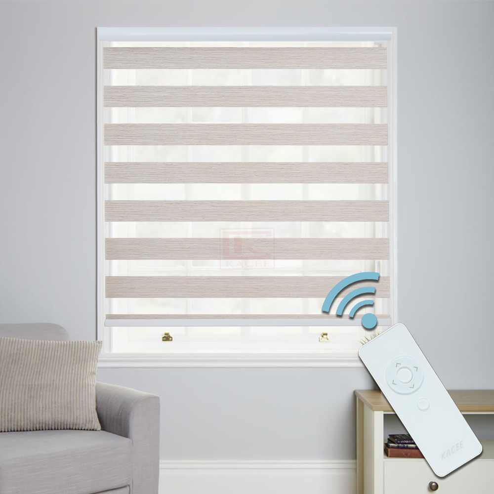 Kacee Nidaros Series Mnd 4 Colors 70 Dim Out Magic Screen Zebra Blind Motorised System With Remote