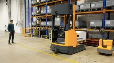 ตัวอย่างการใช้งานกล้อง 3 มิติความละเอียดสูง 'Basler ToF '<br/>ในระบบแมชชีนวิชั่น (Machine Vision)<br/>เพื่อเพิ่มประสิทธิภาพการทำงานให้กับรถขนส่งอัตโนมัติ (AGV)