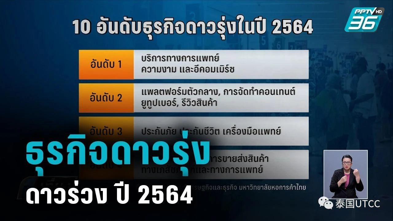 泰国商会大学公布2021年10大最受欢迎的职业