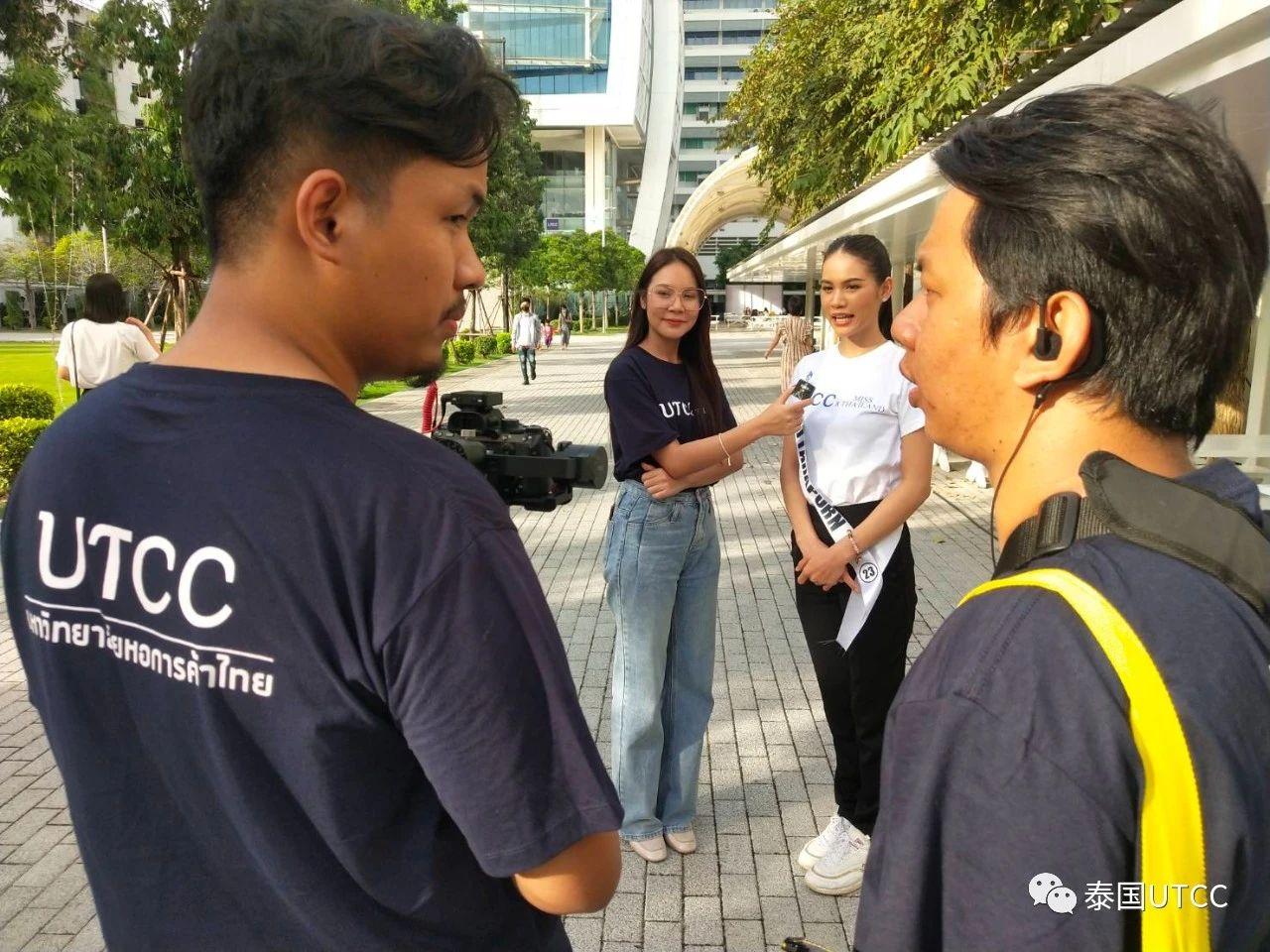泰国商会大学学生真正参与2020年泰国小姐选美比赛有关工作