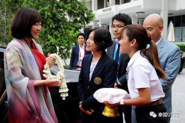 泰国商会大学热烈欢迎日本首相夫人来访 通过东南亚与日本青年友谊船活动培养优秀青少年