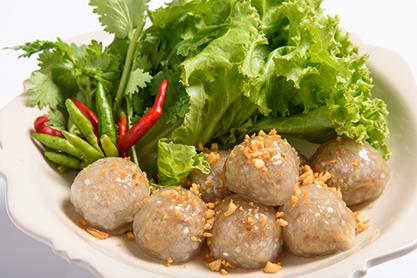 สาคูไส้ปลาหรือไส้หมู / Thai Sago Fish or Pork