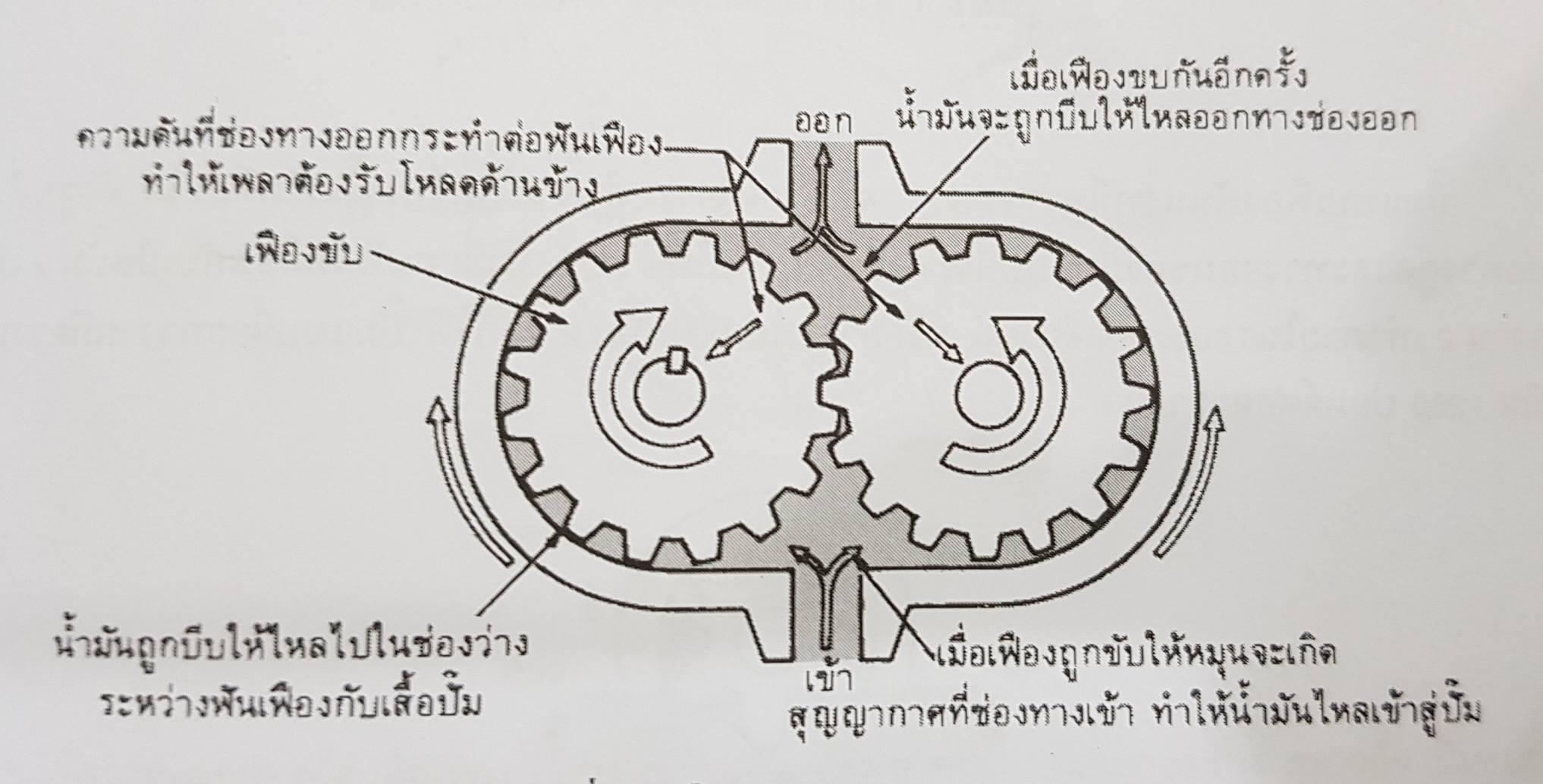 สาระความรู้ของปั้มแบบเฟือง (Gear Pump)